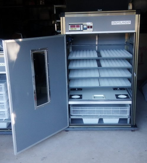 8TTH Greatlander 8 Tray Top Hatch Egg Incubator