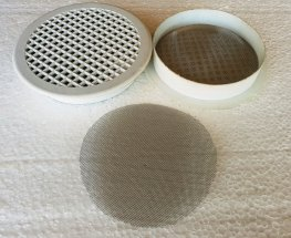 2 PVC Grilles with Stainless Steel Mesh Filters